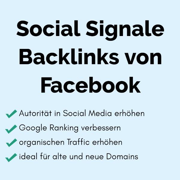 5000 Social Signale Backlinks von Facebook