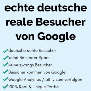 10000 echte deutsche reale Besucher von Google